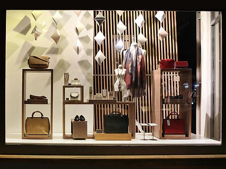 Decorative laminate plastic for POP store front display