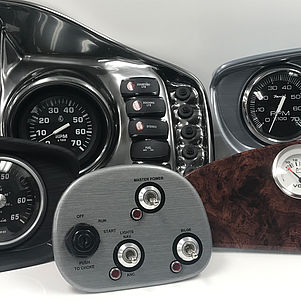 Marine instruments - marine dashboards out of decorative plastic